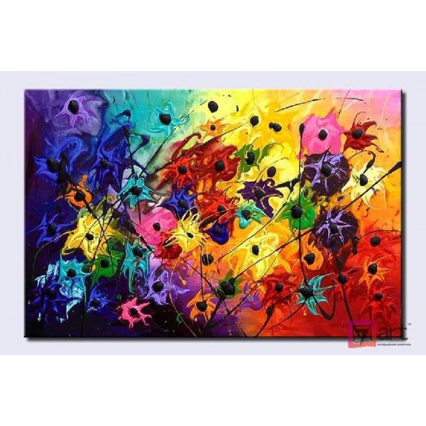 Картины цветы, цветы маслом, ART: fos_0002