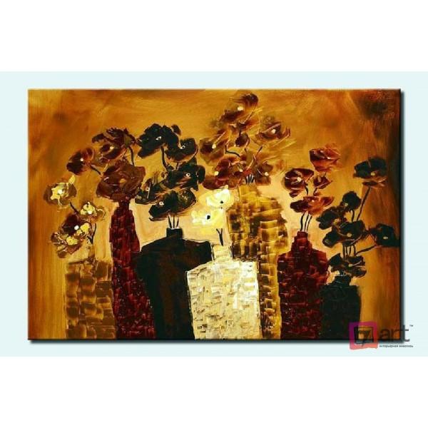 Картины цветы, цветы маслом, ART: fos_0003