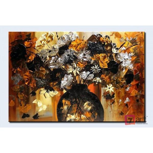 Картины цветы, цветы маслом, ART: fos_0004