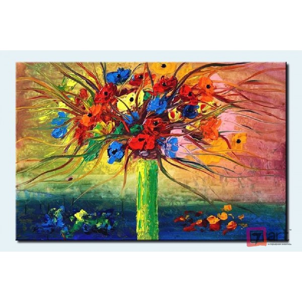 Картины цветы, цветы маслом, ART: fos_0005