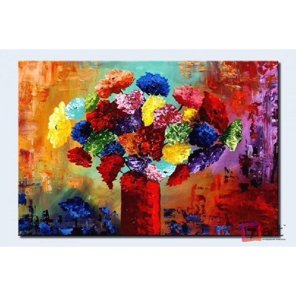 Картины цветы, цветы маслом, ART: fos_0006