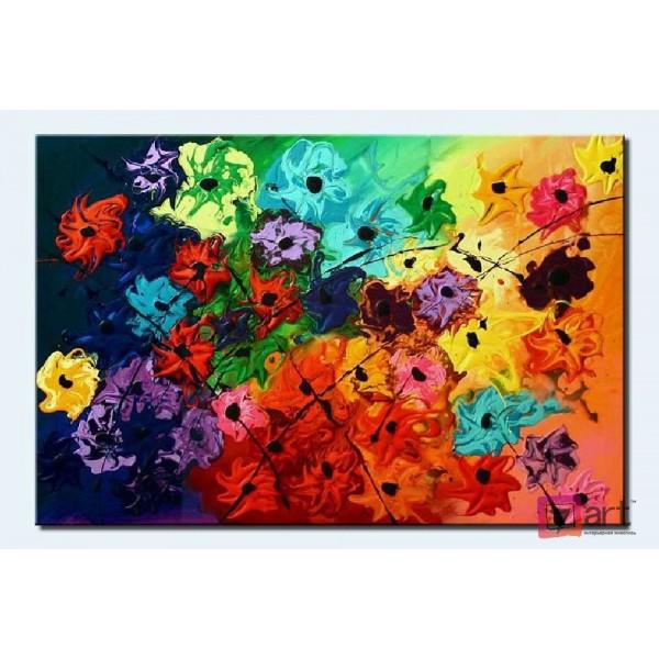 Картины цветы, цветы маслом, ART: fos_0009