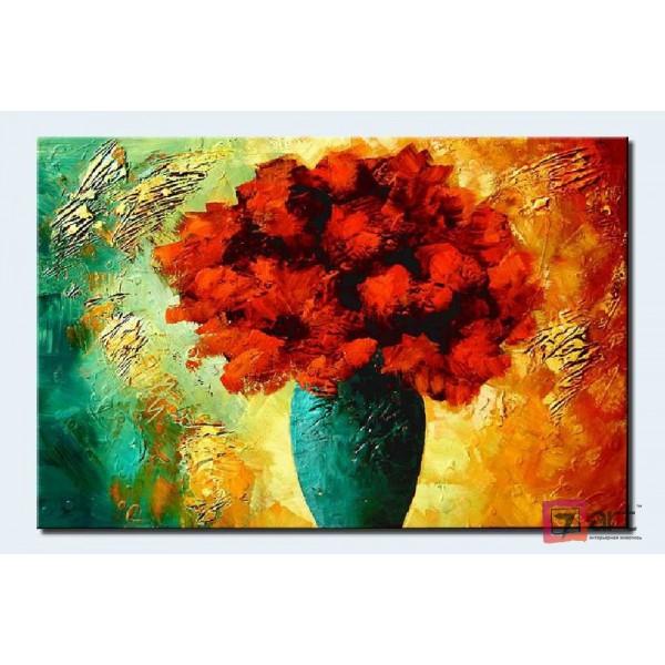 Картины цветы, цветы маслом, ART: fos_0010