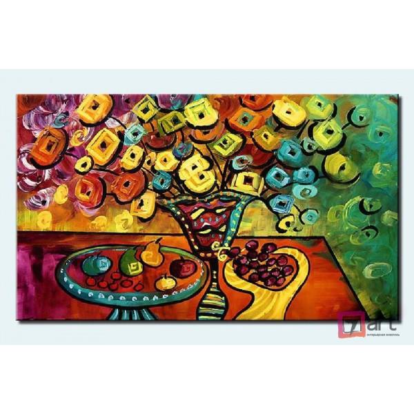 Картины цветы, цветы маслом, ART: fos_0011