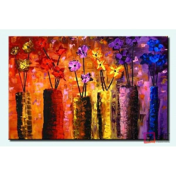 Картины цветы, цветы маслом, ART: fos_0001