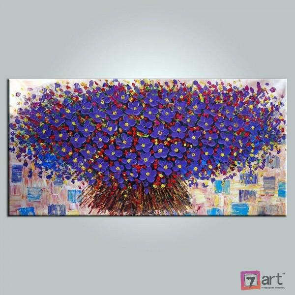 Картины цветы, цветы маслом, ART: fos_0073