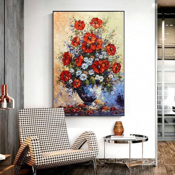 Картина цветы, цветы маслом, ART: flwr0024