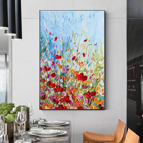 Картина цветы, цветы маслом, ART: flwr0033