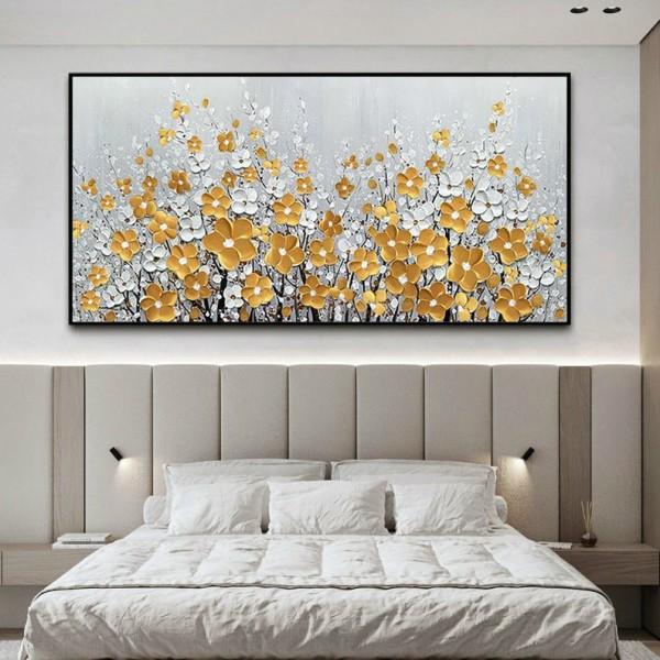 Картина цветы, цветы маслом, ART: flwr0036