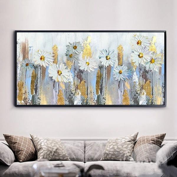Картина цветы, цветы маслом, ART: flwr0060