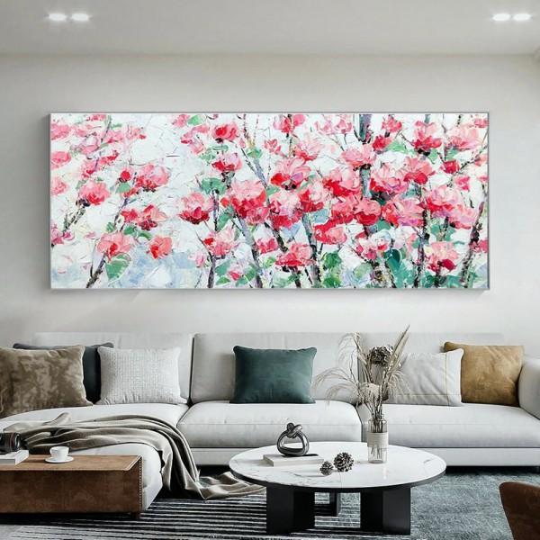 Картина цветы, цветы маслом, ART: flwr0077