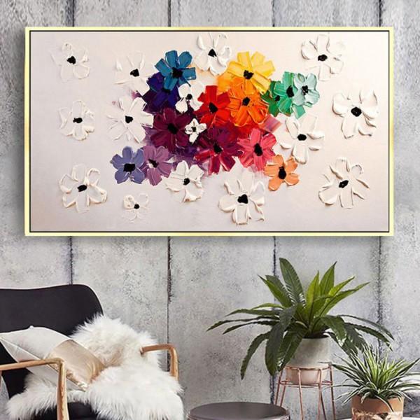 Картина цветы, цветы маслом, ART: flwr0079