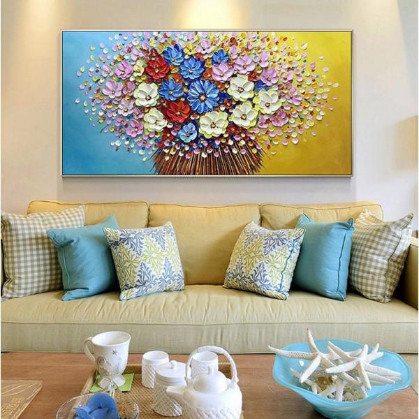 Картина цветы, цветы маслом, ART: flwr0082