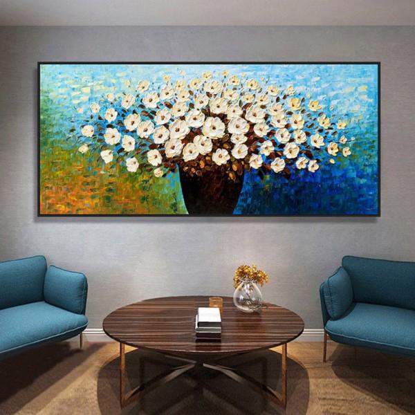 Картина цветы, цветы маслом, ART: flwr0089