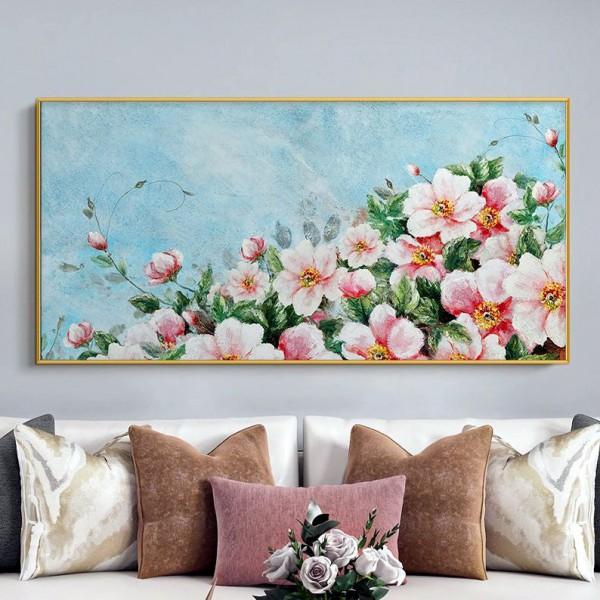 Картина цветы, цветы маслом, ART: flwr0105