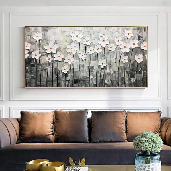 Картина цветы, цветы маслом, ART: flwr0113