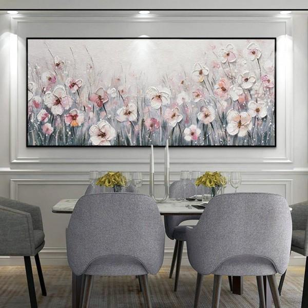 Картина цветы, цветы маслом, ART: flwr0120