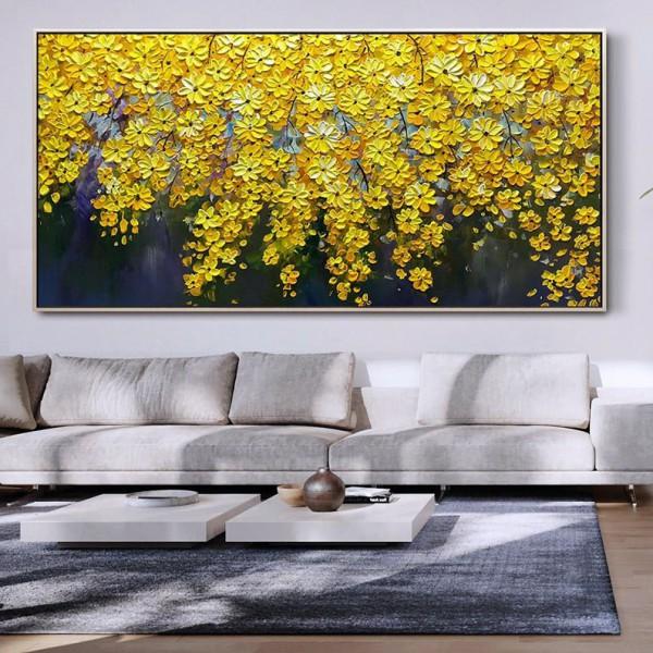 Картина цветы, цветы маслом, ART: flwr0123