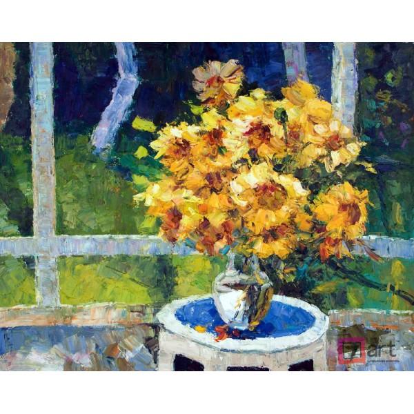 Картины цветы, цветы маслом, ART: fos_0125