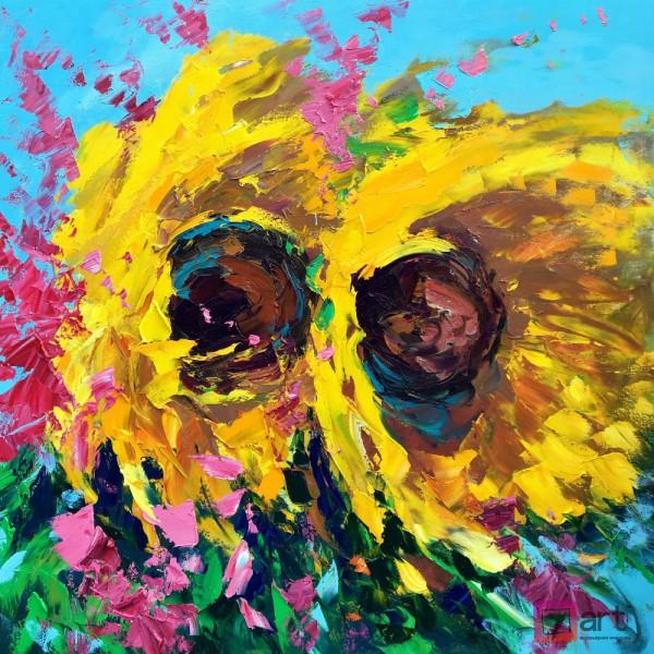 Картины цветы, цветы маслом, ART: fos_0128