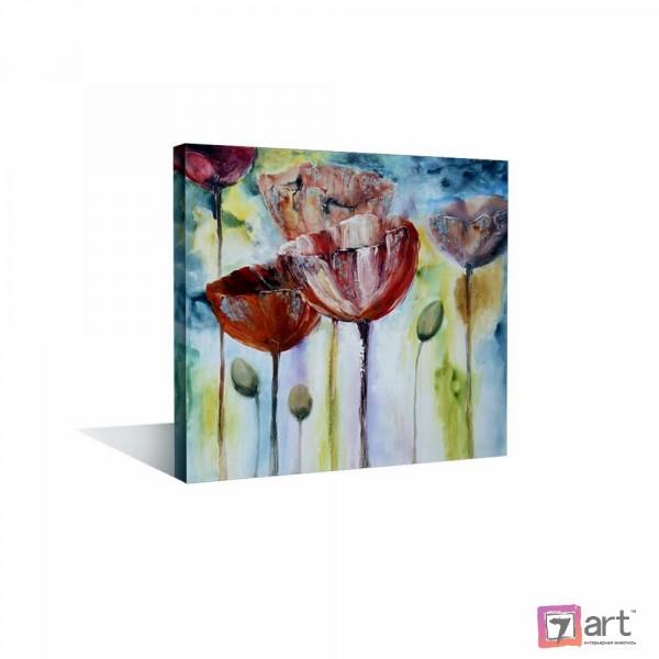 Картины цветы, цветы маслом, ART: fos_0130