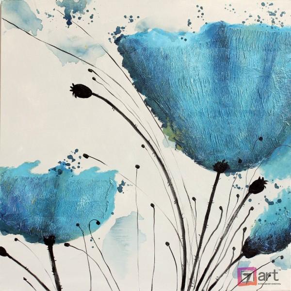 Картины цветы, цветы маслом, ART: fos_0132