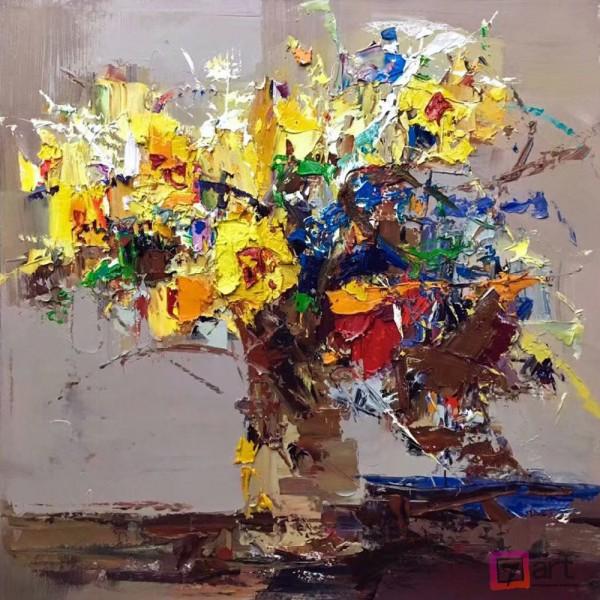 Картины цветы, цветы маслом, ART: fos_0136