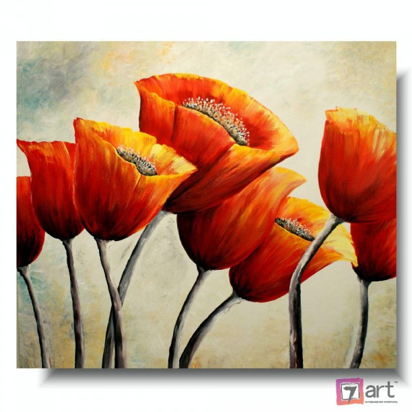 Картины цветы, цветы маслом, ART: fos_0137