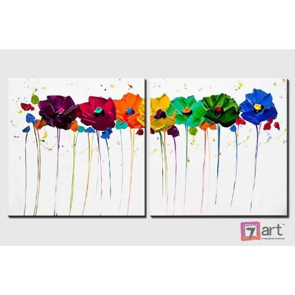 Модульные картины цветы, ART: fosm_0002