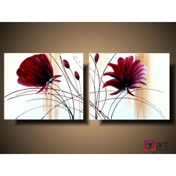 Модульные картины цветы, ART: fosm_0007