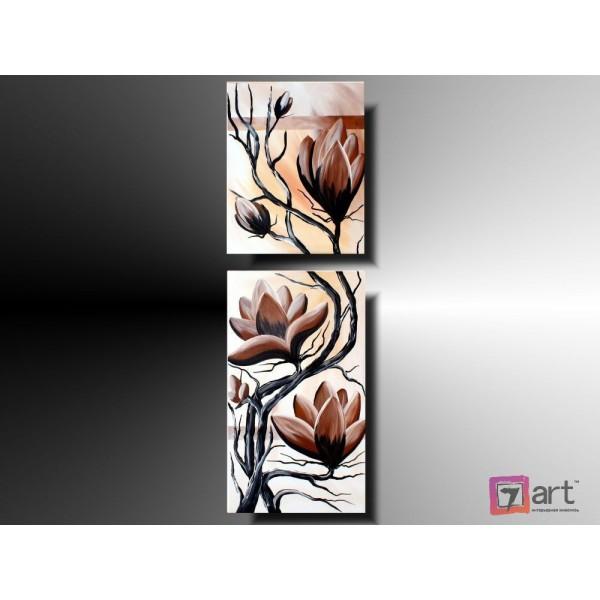 Модульные картины цветы, ART: fosm_0015