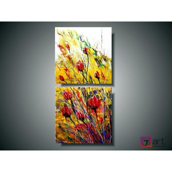 Модульные картины цветы, ART: fosm_0021