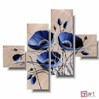 Модульные картины цветы, ART: fosm_0337