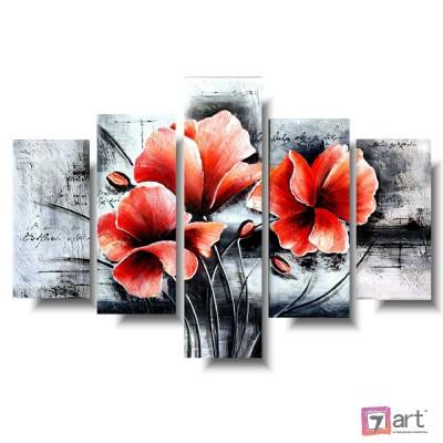 Модульные картины цветы, ART: fosm_0400