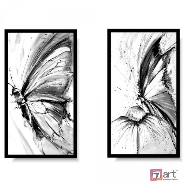 Модульная картина для интерьера, бабочки ART: itrm_0006