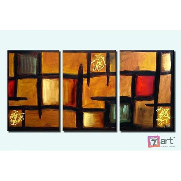 Модульные картины абстракция - триптих, ART: absm_0059