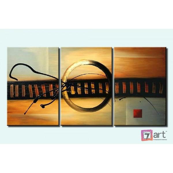 Модульные картины абстракция - триптих, ART: absm_0073