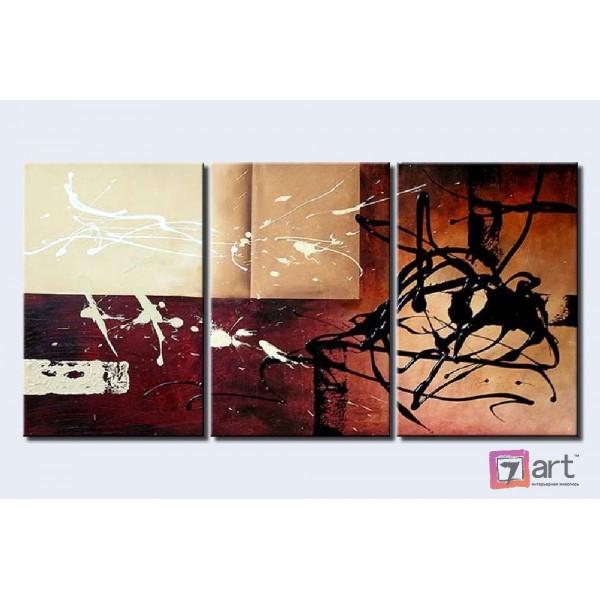 Модульные картины абстракция - триптих, ART: absm_0075