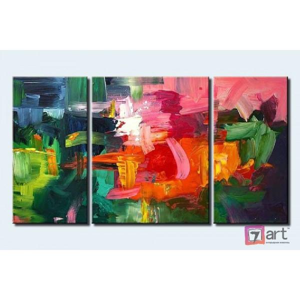 Модульные картины абстракция - триптих, ART: absm_0085