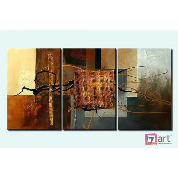 Модульные картины абстракция - триптих, ART: absm_0091