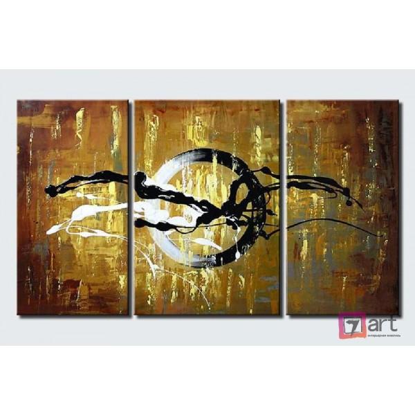 Модульные картины абстракция - триптих, ART: absm_0093