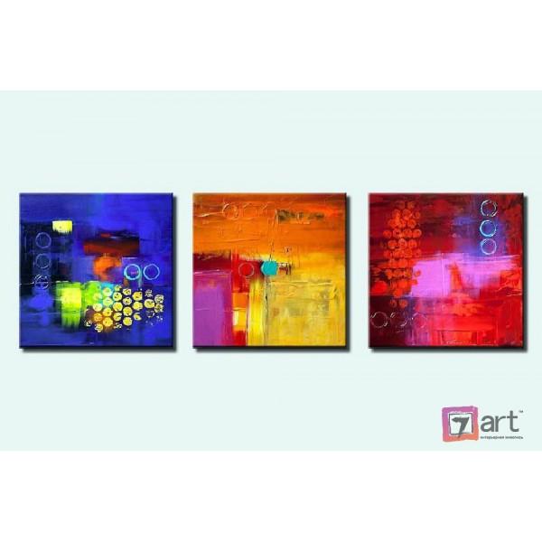 Модульные картины абстракция - триптих, ART: absm_0095