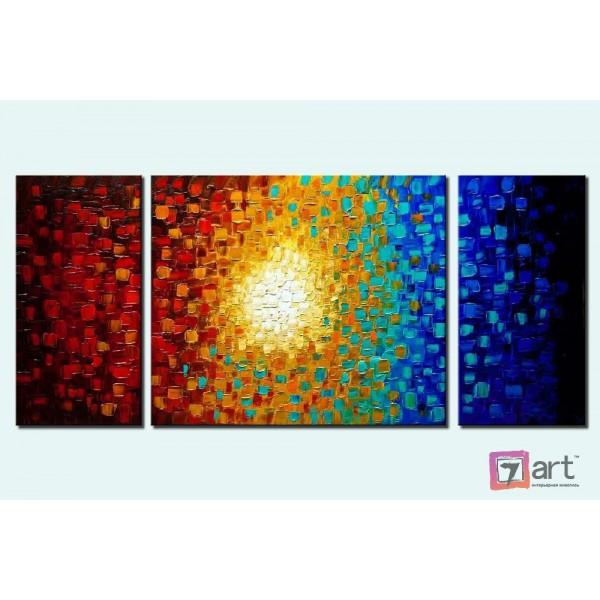 Модульные картины абстракция - триптих, ART: absm_0097