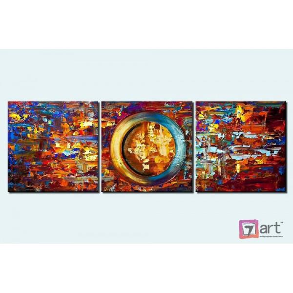 Модульные картины абстракция - триптих, ART: absm_0099