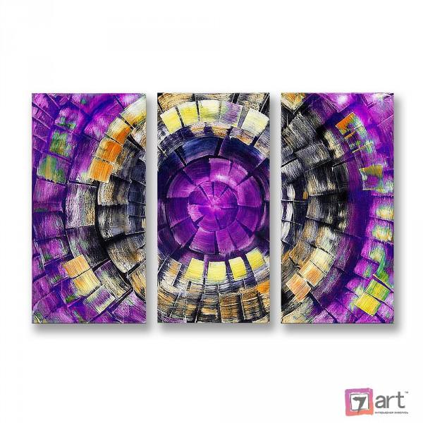 Модульные картины абстракция - триптих, ART: absm_0101