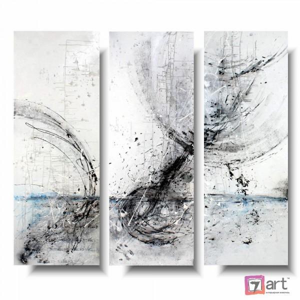 Модульные картины абстракция - триптих, ART: absm_0104