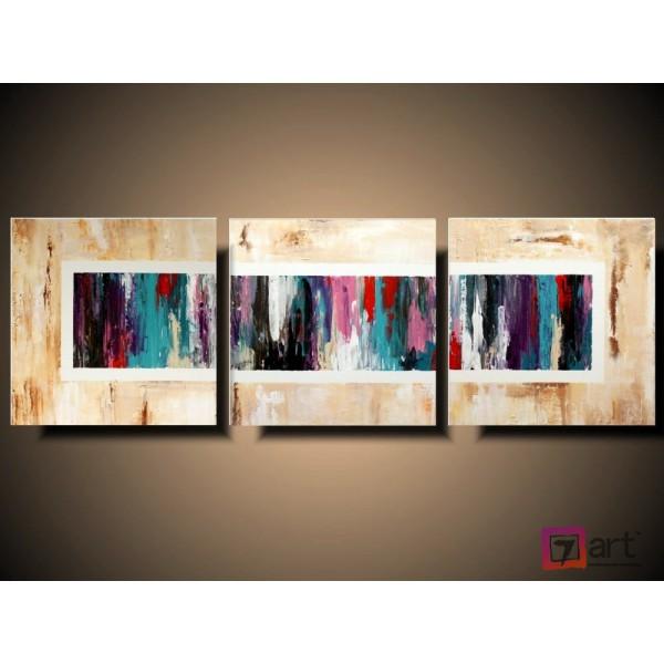 Модульные картины абстракция - триптих, ART: absm_0108