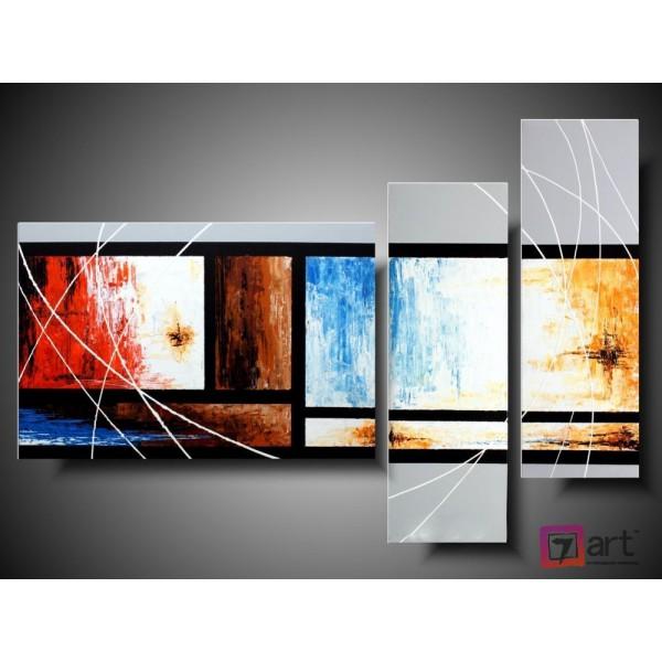 Модульные картины абстракция - триптих, ART: absm_0110