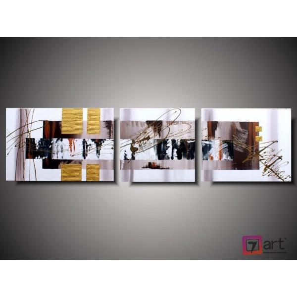 Модульные картины абстракция - триптих, ART: absm_0112