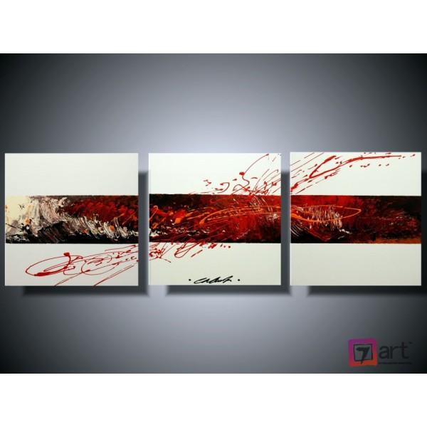 Модульные картины абстракция - триптих, ART: absm_0114